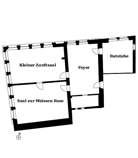 Zunfthaus Übersicht 2OG